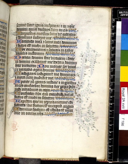 Text page from BL Royal 2 A XVIII, f. 196