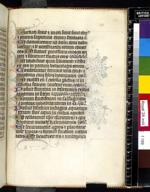 Text page. from BL Royal 2 A XVIII, f. 198