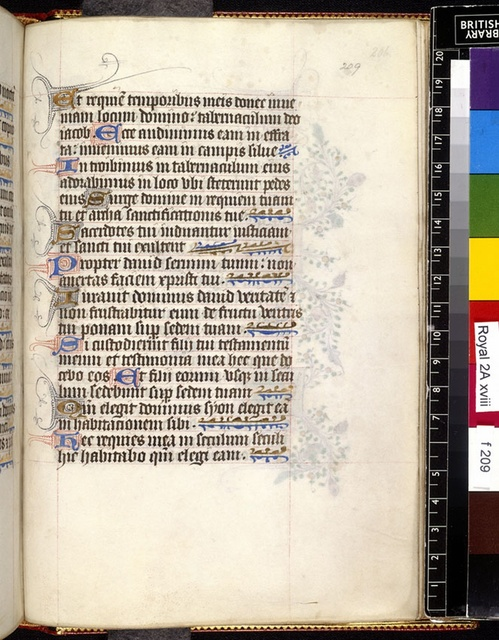 Text page from BL Royal 2 A XVIII, f. 209