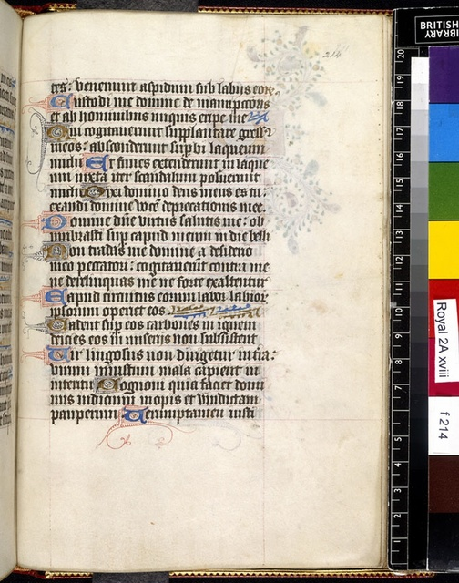 Text page from BL Royal 2 A XVIII, f. 214