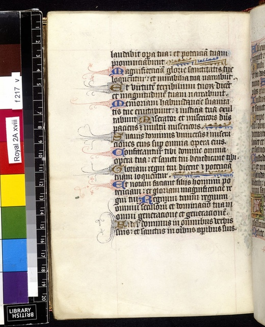 Text page from BL Royal 2 A XVIII, f. 217v