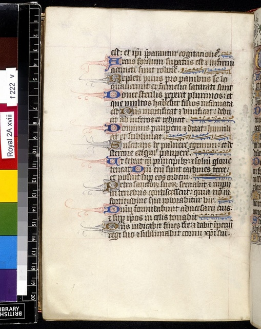 Text page from BL Royal 2 A XVIII, f. 222v