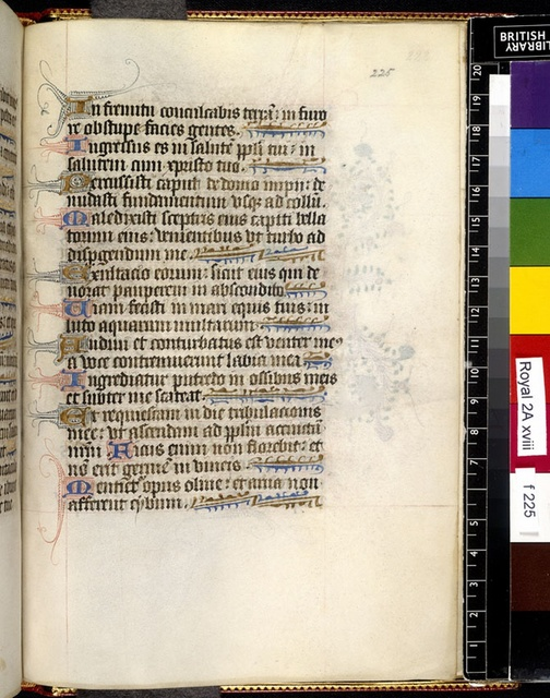 Text page from BL Royal 2 A XVIII, f. 225