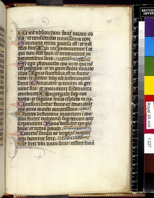 Text page from BL Royal 2 A XVIII, f. 227