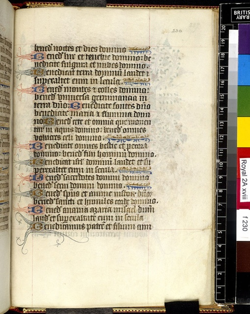 Text page from BL Royal 2 A XVIII, f. 230