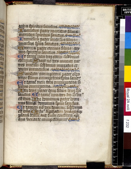 Text page from BL Royal 2 A XVIII, f. 232
