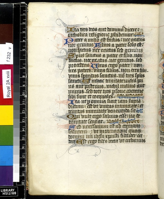 Text page from BL Royal 2 A XVIII, f. 232v
