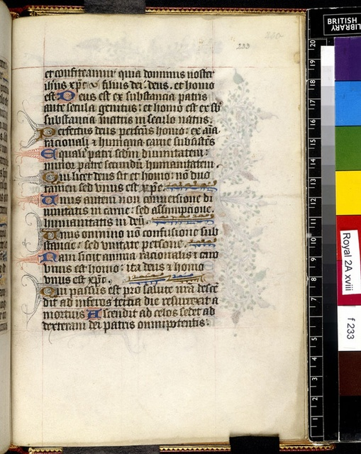 Text page from BL Royal 2 A XVIII, f. 233