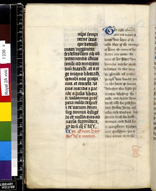 Text page from BL Royal 2 A XVIII, f. 236v