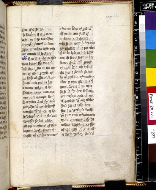 Text page from BL Royal 2 A XVIII, f. 237