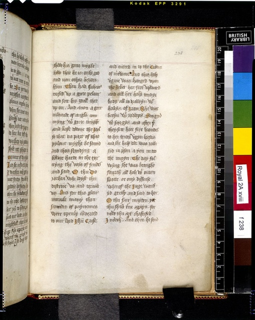 Text page from BL Royal 2 A XVIII, f. 238