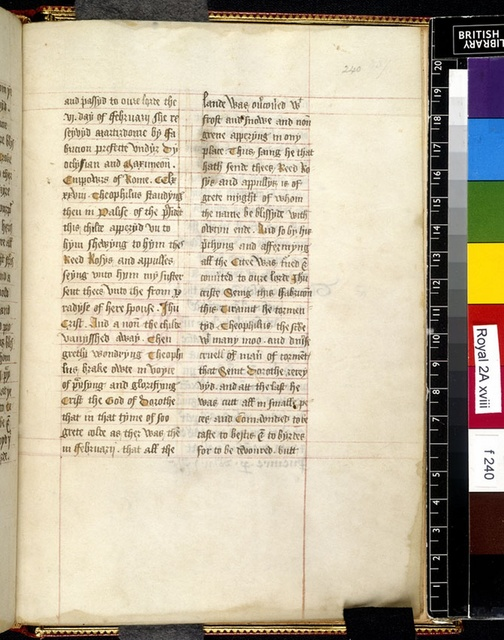 Text page from BL Royal 2 A XVIII, f. 240