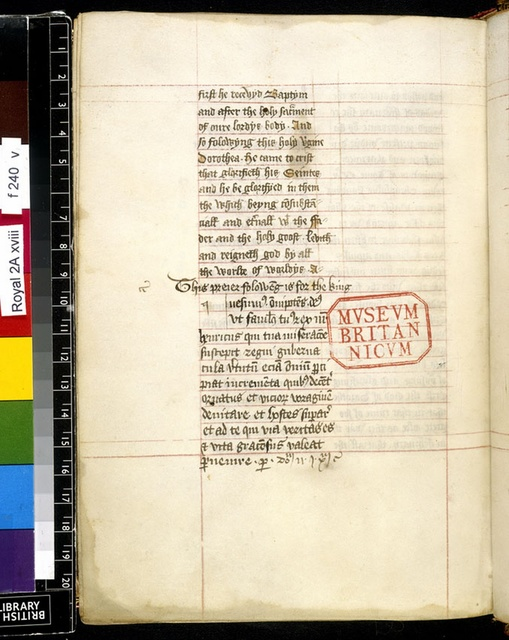 Text page from BL Royal 2 A XVIII, f. 240v