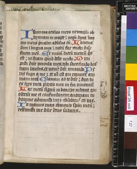 Text page from BL Royal 2 A XVIII, f. 27