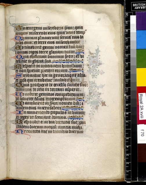 Text page from BL Royal 2 A XVIII, f. 70
