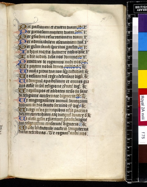 Text page from BL Royal 2 A XVIII, f. 75