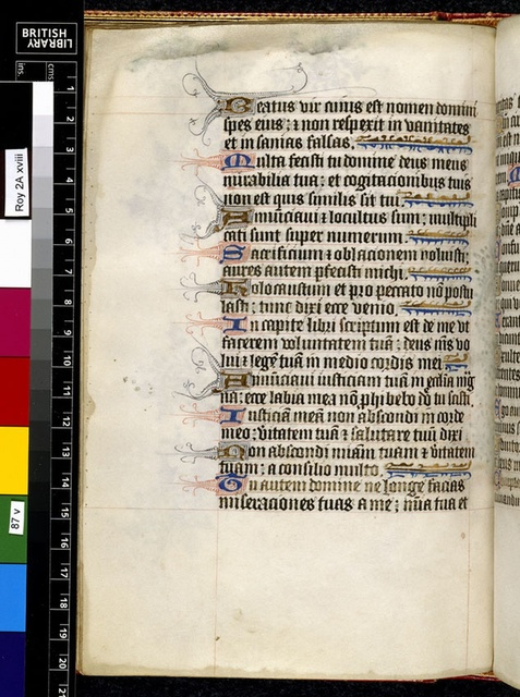 Text page from BL Royal 2 A XVIII, f. 87v