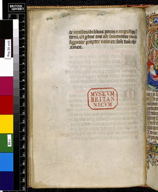 Text page from BL Royal 2 A XVIII, f. 95v