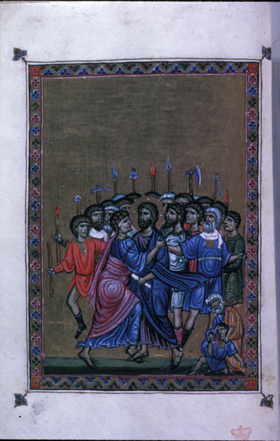 The Betrayal from BL Eg 1139, f. 7v