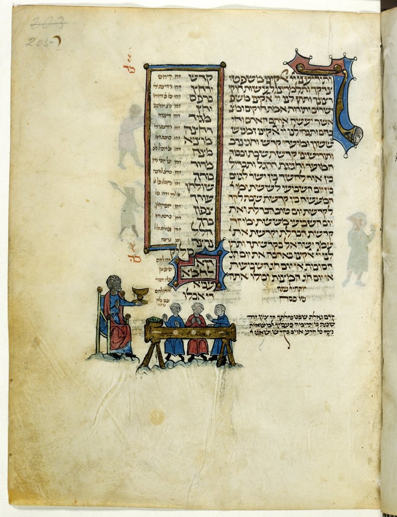 The Bread of Affliction from BL Add 11639, f. 205