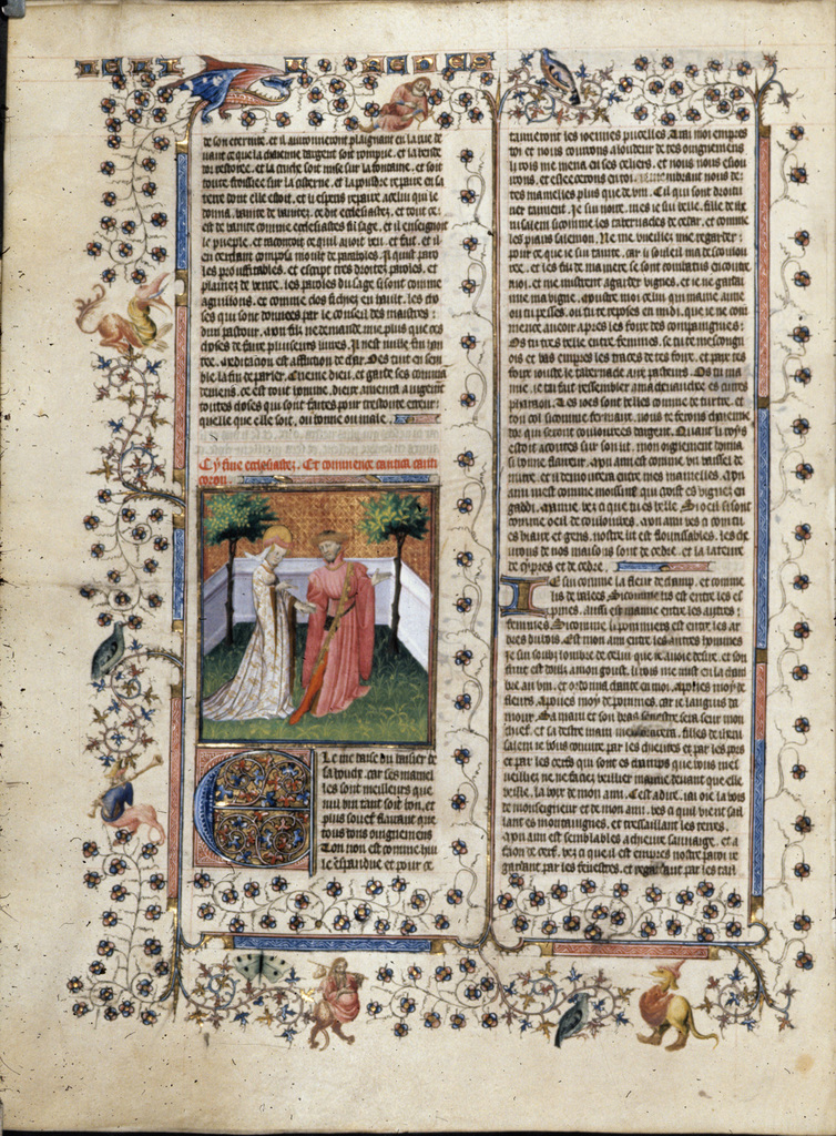 The bride and bridegroom from BL Royal 15 D III, f. 297v