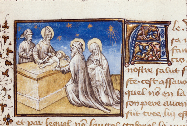 The Circumcision from BL Royal 20 B IV, f. 23