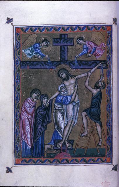 The Deposition from BL Eg 1139, f. 8v