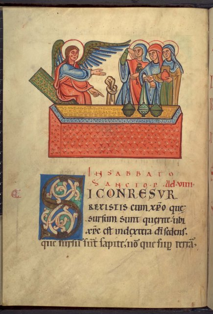 The Holy Women from BL YT 2, f. 21v