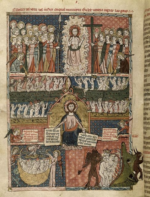 The Last Judgement from BL Royal 19 C I, f. 125v