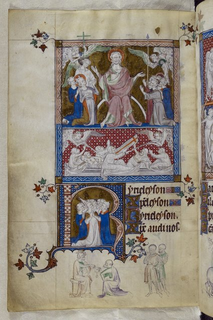 The Last Judgement from BL Royal 2 B VII, f. 302v