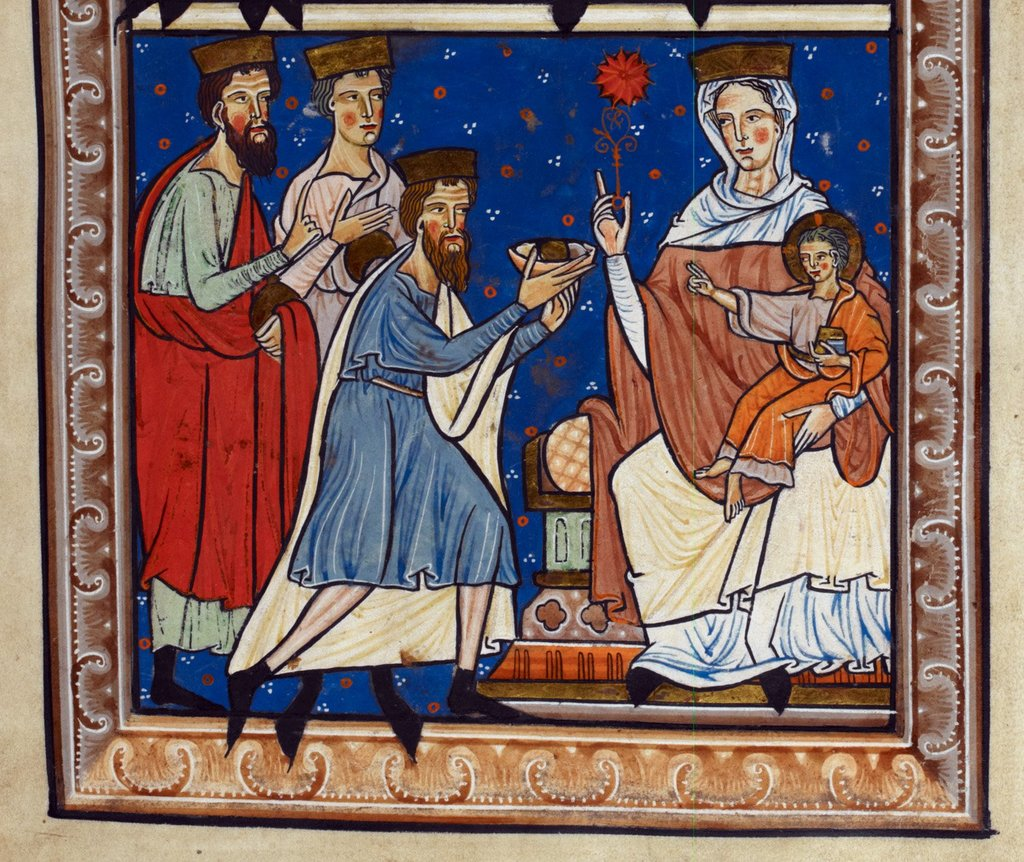 The Magi from BL Royal 1 D X, f. 2