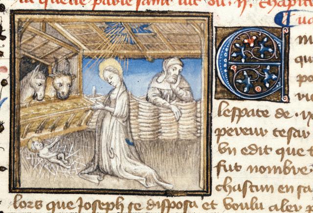 The Nativity from BL Royal 20 B IV, f. 19v