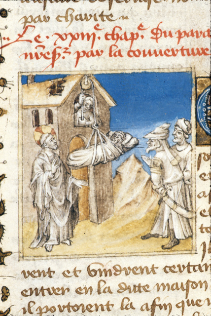 The paralytic from BL Royal 20 B IV, f. 59v