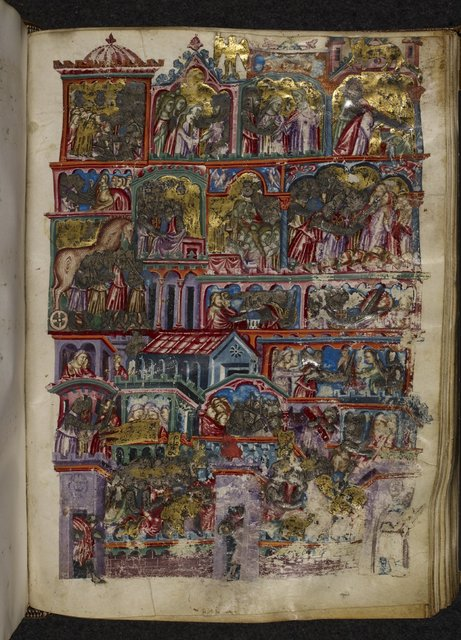 The Sack of Troy from BL Royal 20 D I, f. 169