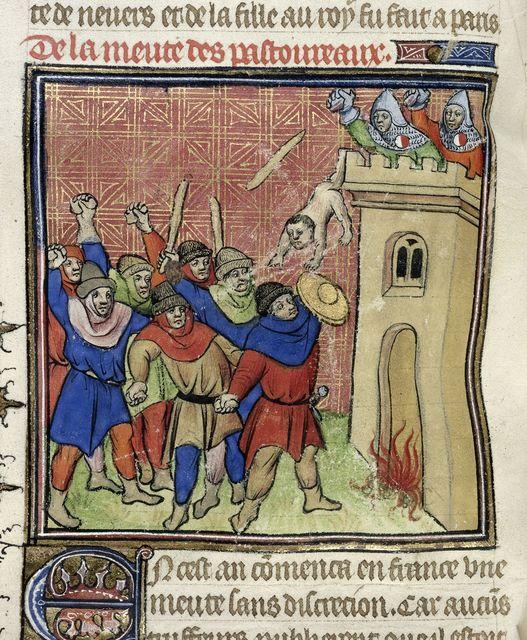 Third Crusade of Pastoureaux from BL Royal 20 C VII, f. 55v