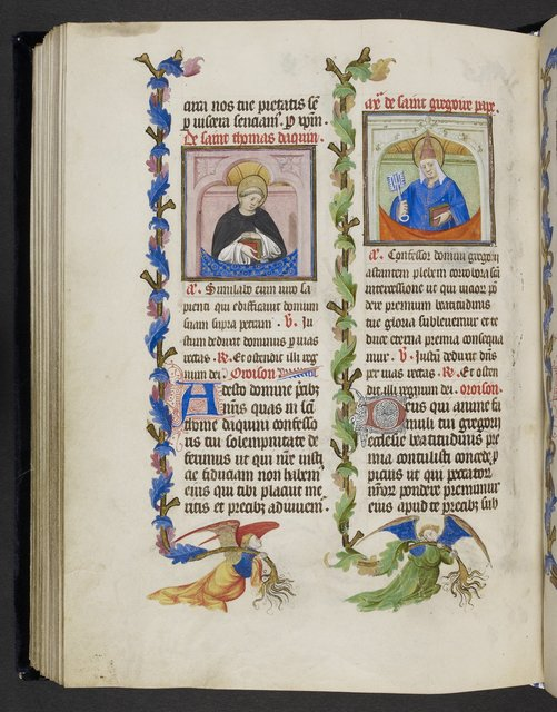 Thomas and Gregory from BL Eg 1070, f. 88v