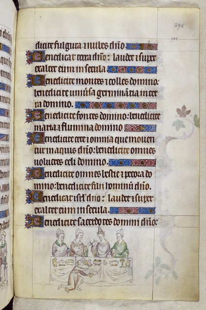 Thomas and the Pope from BL Royal 2 B VII, f. 295