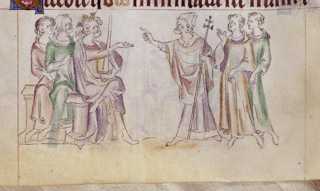 Thomas Becket from BL Royal 2 B VII, f. 291v