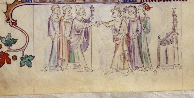 Thomas Becket from BL Royal 2 B VII, f. 296v