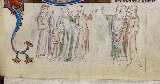 Thomas blessing from BL Royal 2 B VII, f. 294