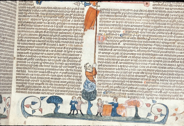 Three men and a queen from BL Royal 10 E IV, f. 15