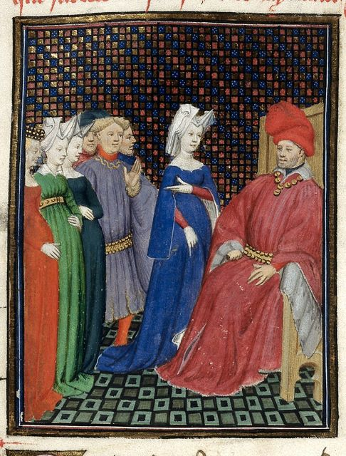 Three pairs of lovers from BL Harley 4431, f. 71v