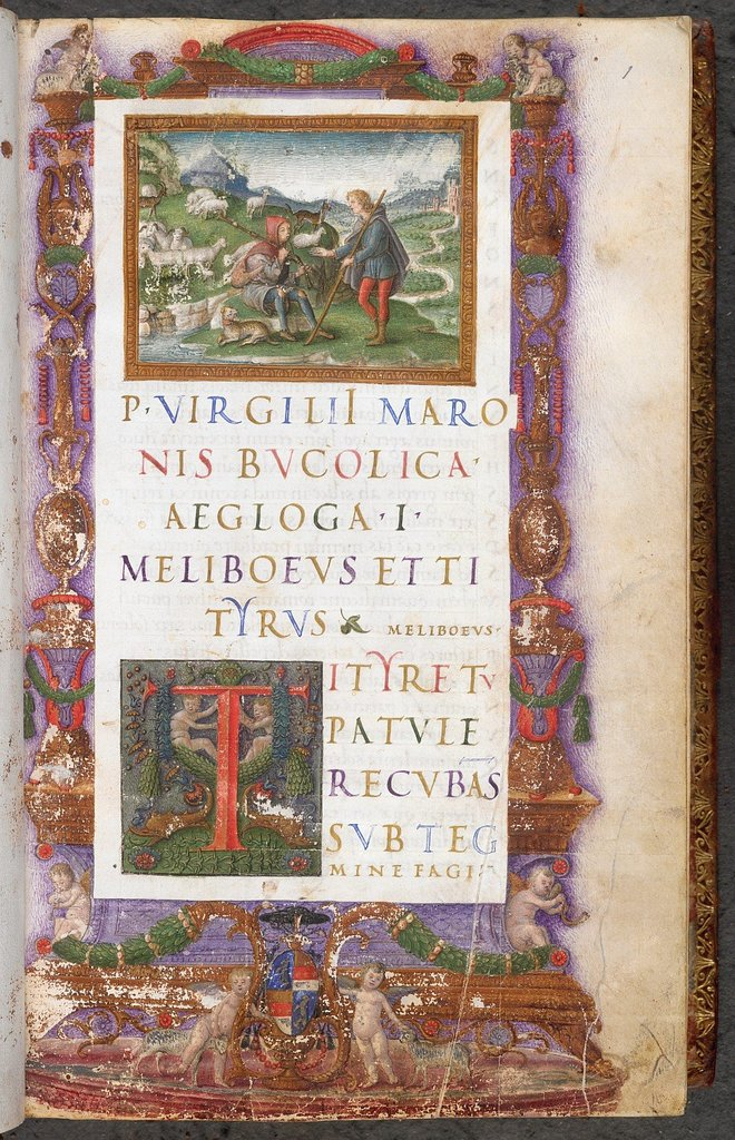 Tityrus and Meliboeus from BL King's 24, f. 1
