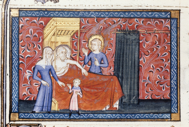 Tobit from BL Royal 19 D II, f. 207v