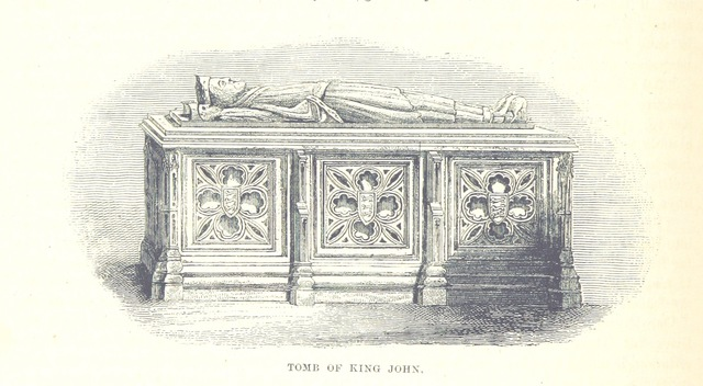 """tomb from """"The National and Domestic History of England ... With numerous steel plates, coloured pictures, etc"""""""