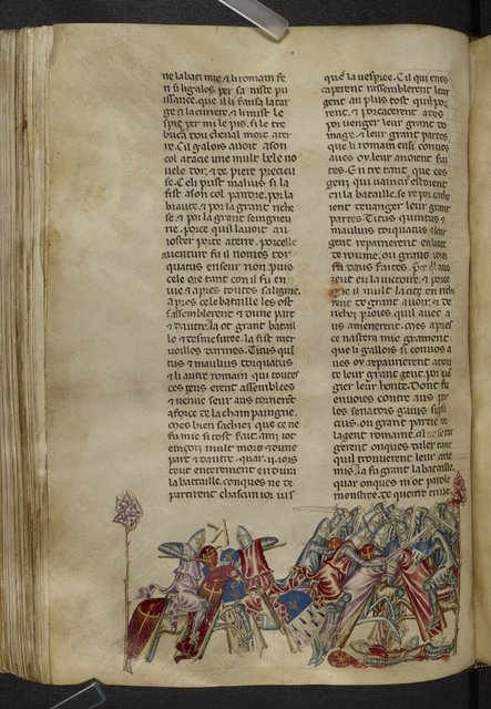 Torquatus and the Gaul from BL Royal 20 D I, f. 240v