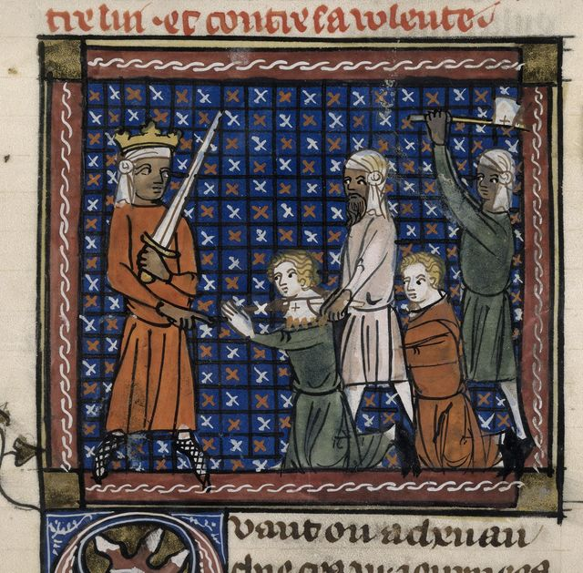 Traitors beheaded from BL Royal 19 D I, f. 107