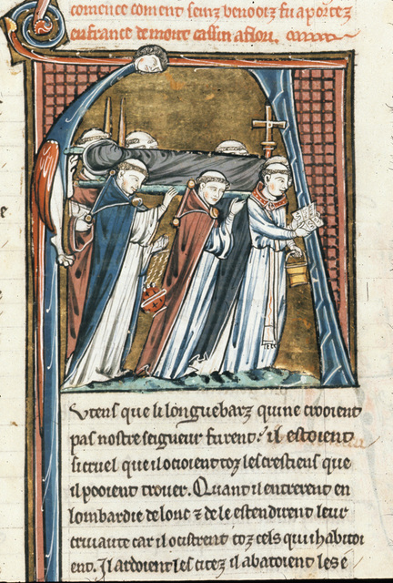 Translation of Benedict from BL Royal 20 D VI, f. 198