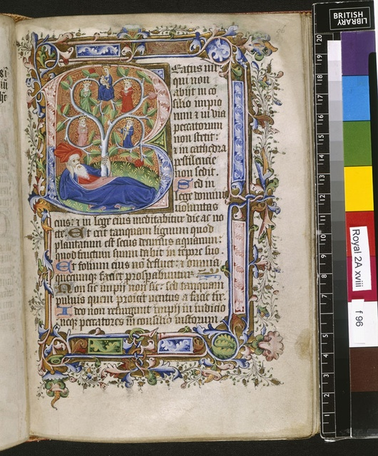 Tree of Jesse from BL Royal 2 A XVIII, f. 96