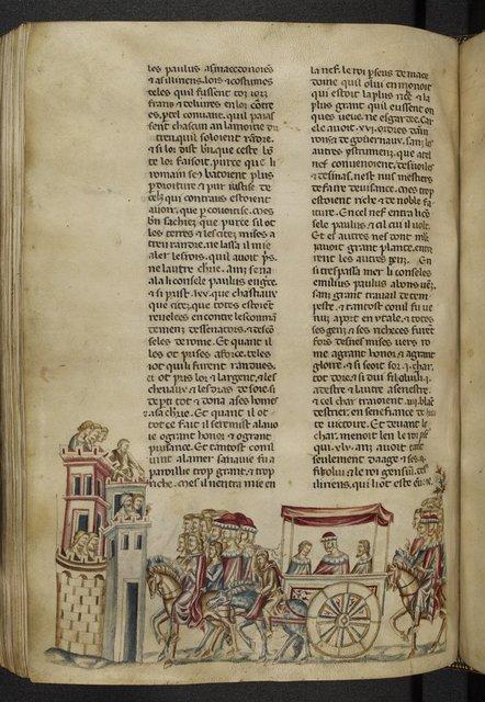 Triumph of Aemilius Paulus from BL Royal 20 D I, f. 300v